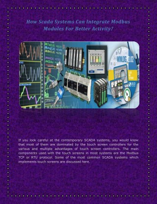 How Scada Systems Can Integrate Modbus Modules For Better Activity