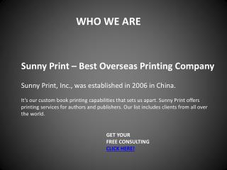 Sunny Print – Companies that Make books in China