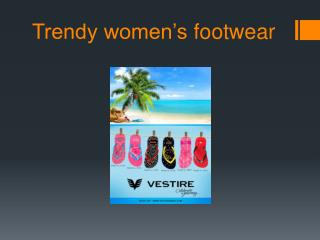 Trendy women's footwear collection in India