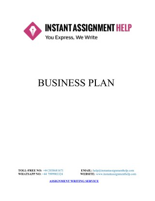 Assignment Sample: Business Plan of Dubasket Company