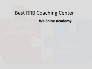 Scientific Approach of Coaching – We Shine Academy