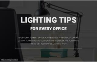 Tips to get your office lighting right