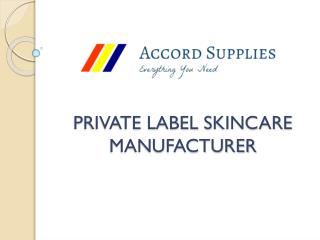 Buy Private Label Skincare In Singapore | Accord Supplies