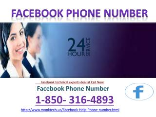 Weed out all issues via Facebook Phone Number  1-850-316-4893