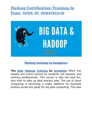 Hadoop training in Pune by prwatech.in