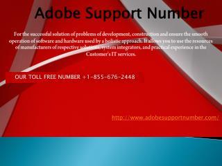 Adobe Support Number  1-855-676-2448