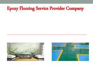 Epoxy Flooring Service Provider Company