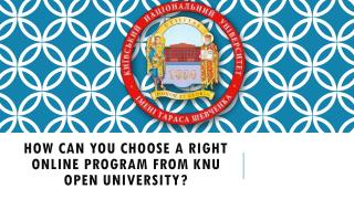 How can You Choose A Right Online Program from KNU Open University