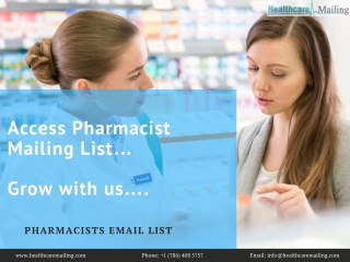 Pharmacists Email List |  Pharmacists Email Addresses | Pharmacies List