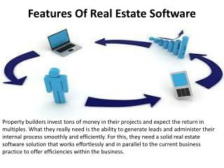 Features Of Real Estate Software