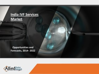 India IVF Services Market - Opportunity Analysis and Industry Forecast, 2014-2022