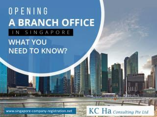 Requirements for Singapore Branch Registration