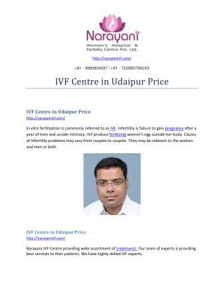 Ivf centre in udaipur price