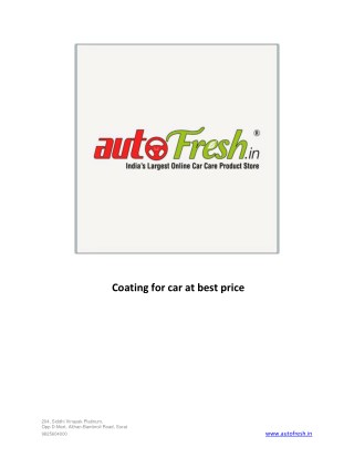Coating for car at best price