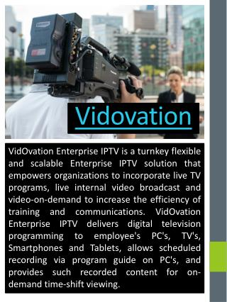 Enterprise IPTV Video Networking