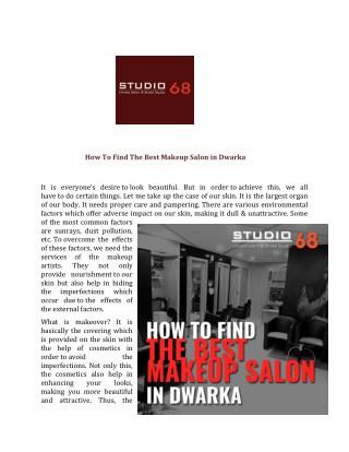 Salon in Dwarka,Makeup Salon in Dwarka