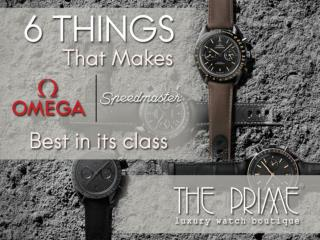 6 Things That Make Omega Speedmaster Best In It's Class