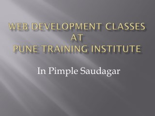 Web Development Classes in Pimple Saudagar | Pune Training Institute