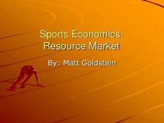 Sports Economics: