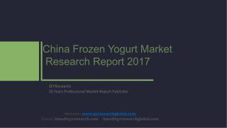 China Frozen Yogurt Market Research Report 2017