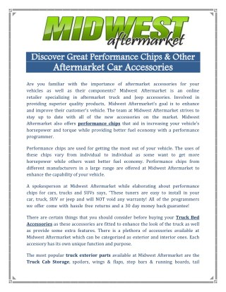 Aftermarket Car Accessories