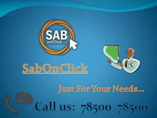Get Everything in Chandigarh, Panchkula, Mohali at SabOnClick