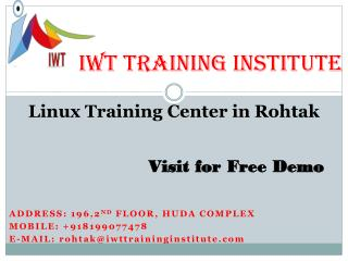 Linux institute in Gurgaon- Networking Training institute in Rohtak