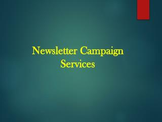 Newsletter Campaign Services - B2B Capricorn