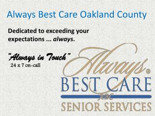 Home Health Care Oak Park - Always Best Care