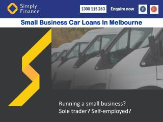 Small Business Car Loans In Melbourne