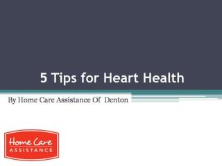 5 tips for heart health