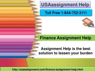 Finance Assignment Help | USA