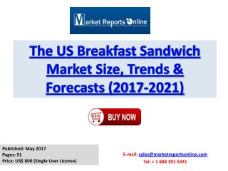 Breakfast Sandwich Industry 2017 Market Growth, Trends and Demands Research Report