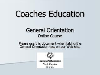 Coaches Education