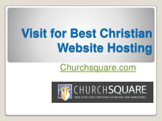 Visit for Best Christian Website Hosting - Churchsquare.com