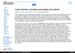 YAHOO PROVIDES CUSTOMER CARE NUMBER FOR SUPPORT