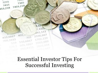Essential investor tips for successful investing