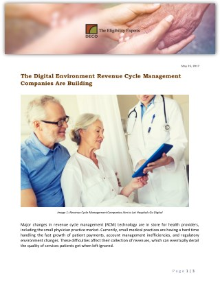 The Digital Environment Revenue Cycle Management Companies Are Building