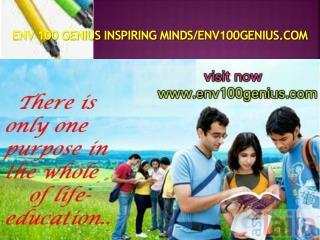 ENV 100 GENIUS Inspiring Minds/env100genius.com