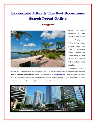 The Best Roommate Search Portal Online