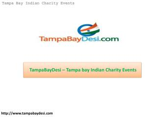 TampaBayDesi – Tampa bay Indian Charity Events