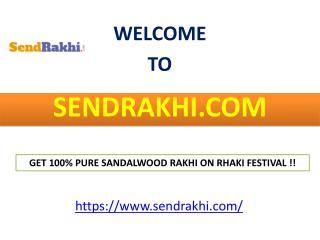 Get 100% Pure Sandalwood Rakhi on Rhaki festival !!