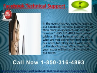 Affordable & True Assistance for Facebook Technical Support Issues @ 1-850-316-4893