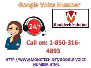 Why is Google Voice Number 1-850-316-4893  so crucial?