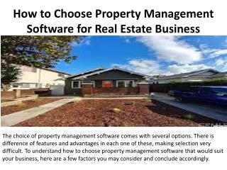 How to Choose Property Management Software for Real Estate Business
