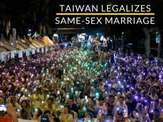 Taiwan legalizes same-sex marriage
