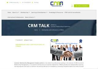 Membership and Certifications at CRMAA