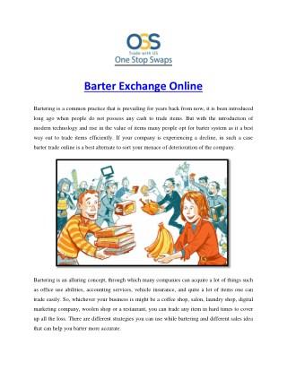 Barter Exchange Online