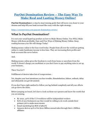PayOut Domination Review and (FREE) PayOut Domination $24,700 Bonus