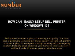How can i easily setup dell printer on windows 10?